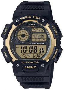 68dd89709ee1f Casio G-Shock Gold Black Rubber Casual Watch For Men - AE-1400WH-9AVDF