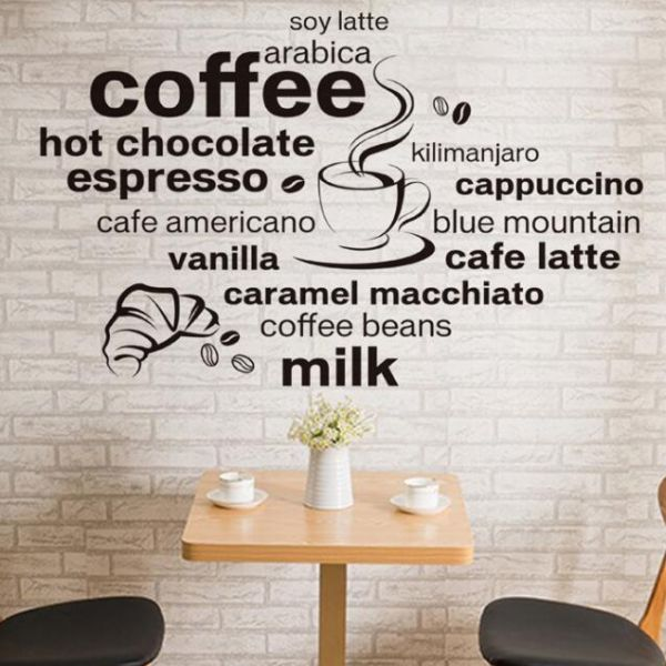 coffee world wall decalstyle & apply - wall sticker, vinyl wall