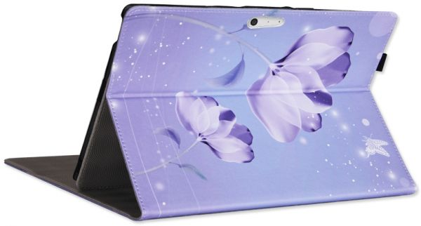 Surface pro4 protection cover leather laptop bag Purple flower protection sleeve