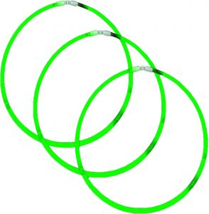 Grad Green Glow Necklace Amscan
