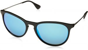 5341333513c6d Ray-Ban ERIKA - BLACK Frame LIGHT GREEN MIRROR BLUE Lenses 54mm  Non-Polarized