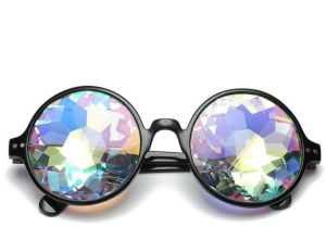14dd6b42e5 Party Sunglasses Stylish Kaleidoscope Retro Round Mosaic Goggles for Men  Women Cosplay Prom Party Dress up Best Gift for Kids black