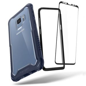 Spigen Hybrid 360 Galaxy S9 Case with 360 Full Body Coverage Protection with Tempered Glass Screen Protector for Samsung Galaxy S9 (2018) - Titanium Gray