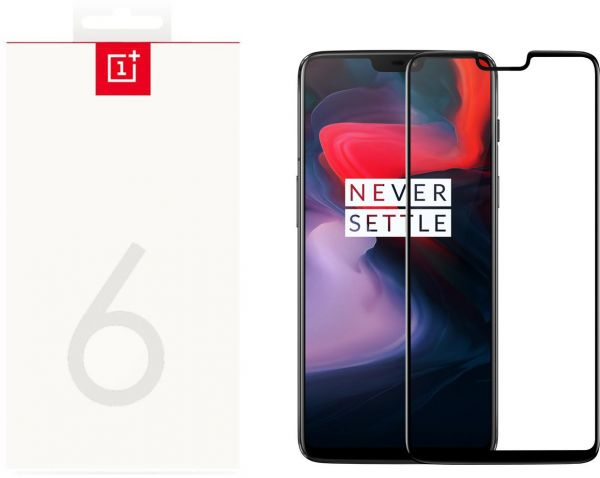 best loved fb22f 904ad OnePlus 6 3D Tempered Glass Screen Protector Black