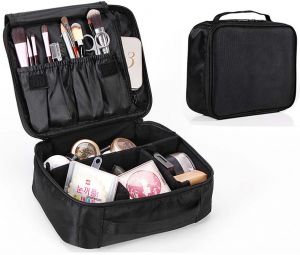 Portable Travel Makeup Bag Cosmetic Organizer Make Up Artist Storage For Cosmetics Brushes Jewelry Toiletry And Accessories