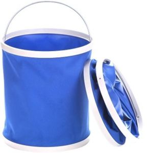 9L Collapsible Bucket, No Leakage Car Wash Bucket, Multi-function Outdoor Portable Folding Pail Fishing Cleaning Water Container for Hiking Camping House ...