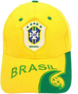 228b78108b4f3 Yellow Brazil Fans FIFA World Cup Embroidery Snapback Hat Baseball Cap For  Unisex