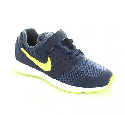 fb4f6b0d5a16 Nike Downshifter 7 BPV Running Shoes For Boys - Navy Lime