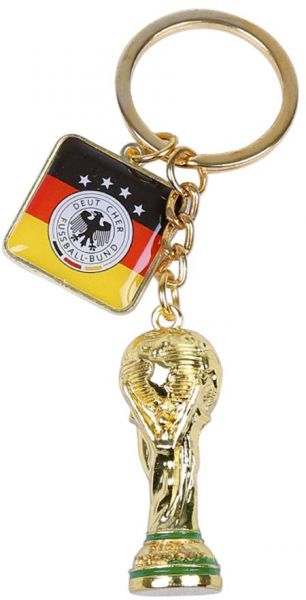 aad7da2598b FIFA World Cup 2018 Trophy and Germany Football Flag Pendant Key ...