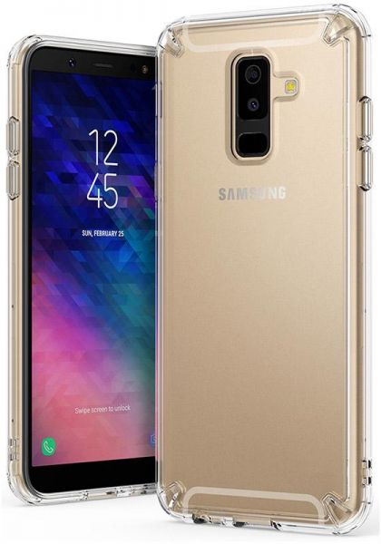 wholesale dealer e1712 eead2 Ringke Case For Samsung Galaxy A6 Plus (2018) Fusion Shock Absorption Back  Cover - Clear
