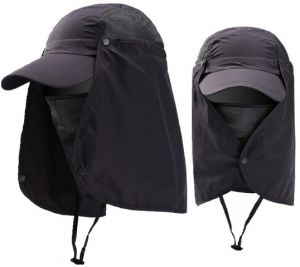 1704551716f Fishing Hiking Hat Outdoor Sport UV Protection Face Neck Flap Man Male Sun  Cap-xsq