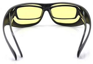 0ed06a3899 Unisex HD Night Vision Driving Sunglasses Yellow Lens Over Wrap Around  Glasses