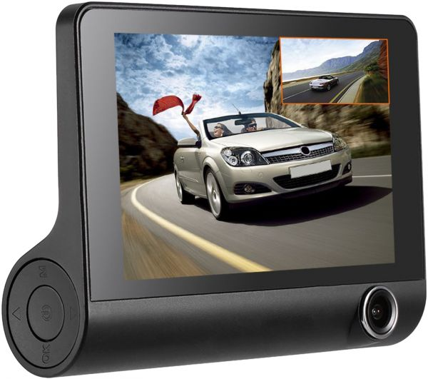 KKMOON 4 inches 3 Lens Car DVR Dash Night Vision, G-Sensor, Motion Detection, Loop Recording Camera Camcorder