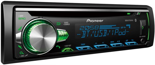 Pioneer 50X4 CD Receiver Bluetooth MP3 WMA Front AUX USB IPod IPhone 2 Pre Out RDS Subwoofer Control
