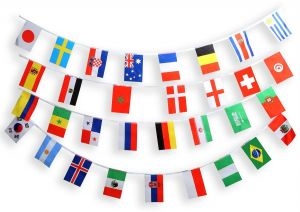 833c78923 World Cup 2018 Russia String Flags Set of 32 Countries Flags Banners  14x21cm Long 9M