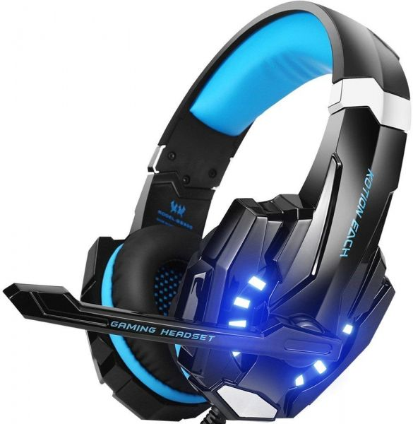G9000 Stereo Gaming Headset for PS4, PC, Xbox One Controller, Noise  Cancelling Over Ear Headphones with Mic, LED Light, Bass Surround, Soft  Memory