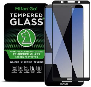 Huawei Mate 10 Pro Mifan 3D Curved Tempered Glass Full Cover Screen Protector Smooth Anti Fingerprint Black