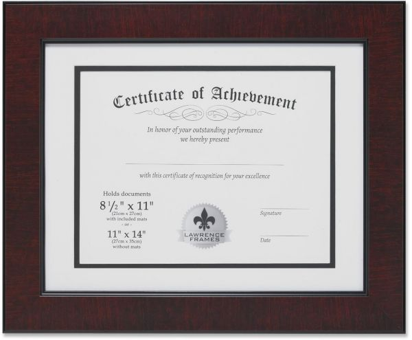Lawrence Frames Dual Use Faux Burl 11 14 Inch Certificate Picture