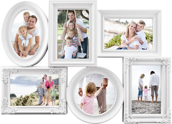 MCS Industries 6 Openings Multi-Shaped Collage Frame, 5 of 4x6 Inch ...