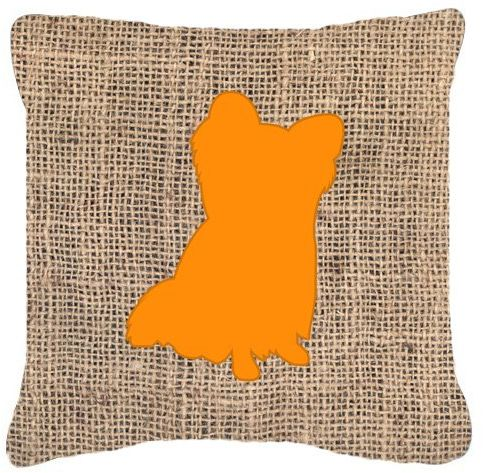Caroline's Treasures BB40BLORPW40 Chihuahua Burlap Orange Mesmerizing Orange Decorative Pillows For Couch