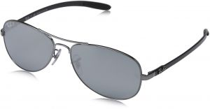 7f864c7ef6 Ray-Ban RB8301 - SHINY GUNMETAL Frame BLUE MIRROR SILVER POLAR Lenses 59mm  Polarized