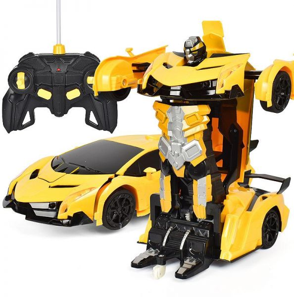 Romote Control Car Toy Autobots Lamborghini Rc Robot Cars One Button