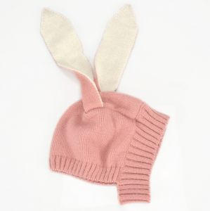e90ea1b2a8b Children s autumn and winter animal cap Rabbit ears wool cap knit hat