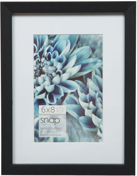 Souq | Snap Black Matted Frame 6 inches x 8 inches Black 05FW1803 | UAE