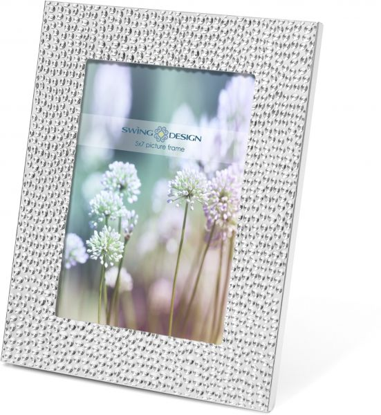 Souq | Swing Design Shimmer Picture Frame, Silver Plate 5 by 7-Inch ...
