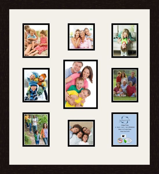 Art to Frames Double-Multimat-333-61/89-FRBW26061 Collage Frame ...