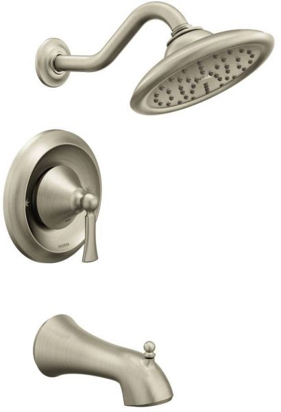 Moen T5503BN Wynford Tub and Shower Faucet Set without Moentrol ...