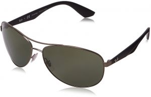 4c6f5dbd2 Ray-Ban METAL MAN SUNGLASS - MATTE GUNMETAL Frame POLAR DARK GREEN Lenses  63mm Polarized