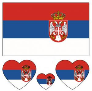 Serbia World 2018 Cup Football Body Tattoo Designs Small Decal Sports Game Fans Temporary Tattoo Sticker Hot