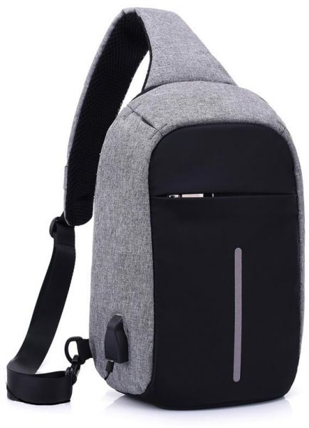 0b5b1b86b780f Men s Burglar USB Charging Shoulder Crossbody Bag Men Female Stealth Zipper  Business Chest Pack Repellent Anti-theft Package USB Charge Chest Bags Men