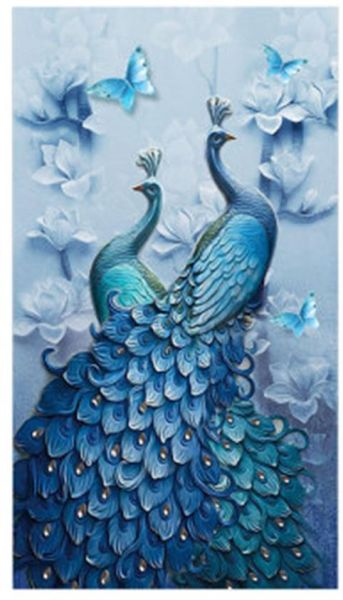 9f4c6ad782e50 Diamond Painting Full Square 5D DIY Drill Peacock Lucky Bird DP Rhinestone  Embroidery Arts Craft Paint-By-Number Kits cross stitch for Home Decoration  ...