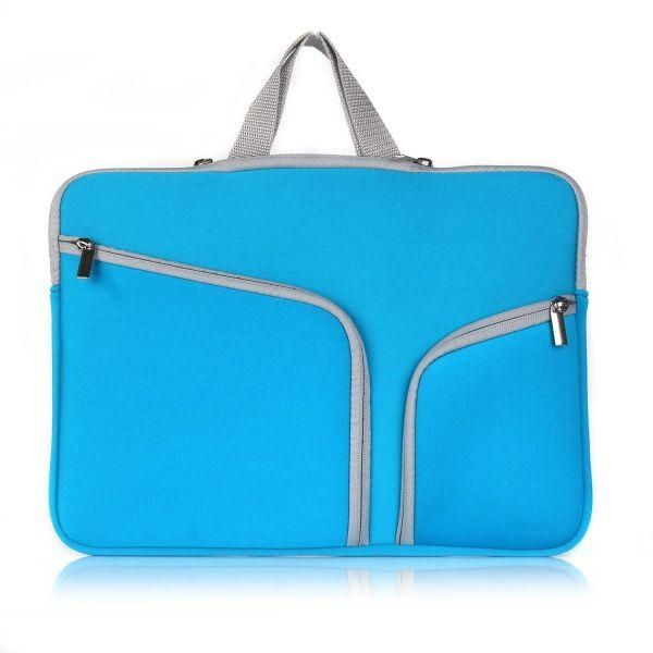 7db7dc8a0b94 Fashion Portable Multifunction Soft Notebook Computer Carry Sleeve Case Bag  Travel Business Handbag for Apple Macbook Air Pro 14 Inch Laptop-Blue