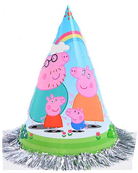 Peppa Pig Party Hats Lovely Paper Cone Birthday For Children And Adults Fun Jamboree 5PCS Set