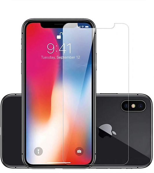 iPhone X Tempered Glass Screen Protector by QualityConnects | 9H Hardness -  Super Thin, Bubble Free, Touch Compatible - Anti Finger Print Tempered