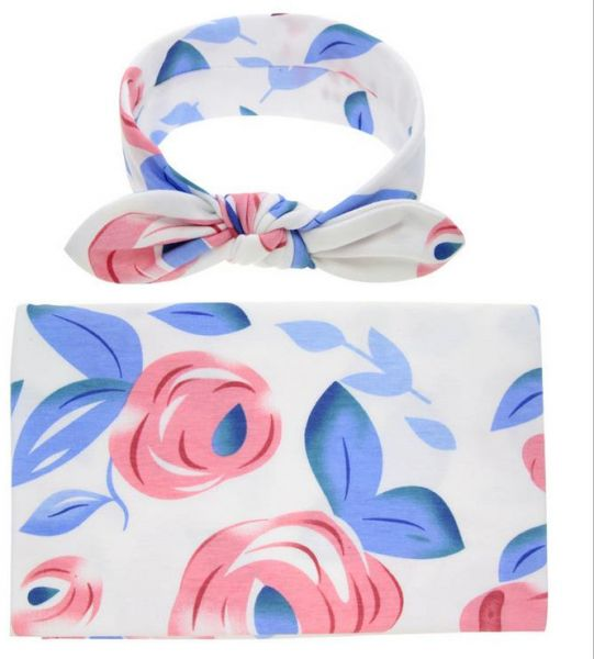 Swaddling And Receiving Blankets Unique Souq Newborn Receiving Blanket Headband Set Flower Print Baby