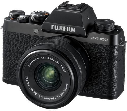 Fujifilm X-T100 Mirrorless Digital Camera Black with 15-45mm Lens