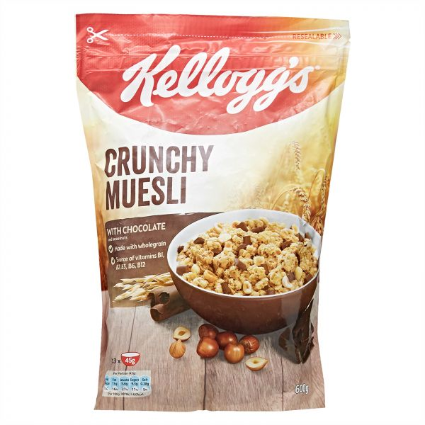 Kellogg's Crunchy Muesli with Chocolate, 600 gm