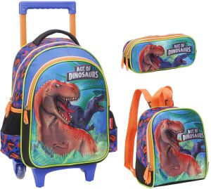 ee5c73425b93c 3D dinosaur School Bag for 3 - 12 Ages Kids Children Boys Backpack Trolley  Bags