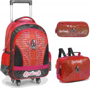 9c7508664c Crazy spider School Bag for 3 - 12 Ages Kids Children Boys Backpack Trolley  Bags