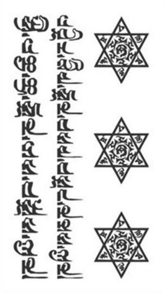 Temporary Tattoo Stickers Imperial Crown Love Anchor Fake Tattoo