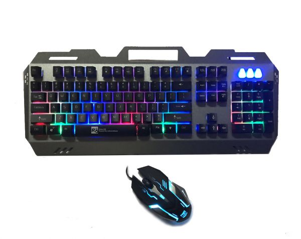 4fe33b11264 R8 Gaming Keyboard and Mouse, Black | KSA | Souq