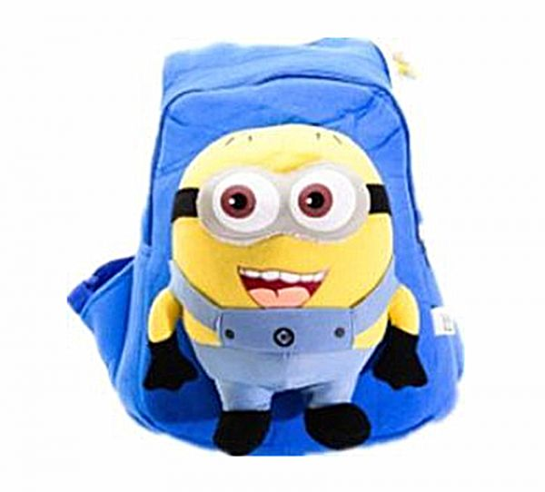 64bc9725f7c0 Minions Plush children s backpack kindergarten bag cartoon cotton ...