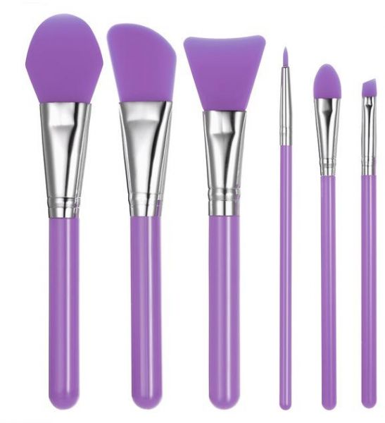 50a7914a61238 6 in 1 Facial Mask Foundation 6pcs Set Silicone Gel Makeup Brushes Soft  Elastic Eyeshadow Eyeliner Lipstick Brush Cosmetic Make Up Tool