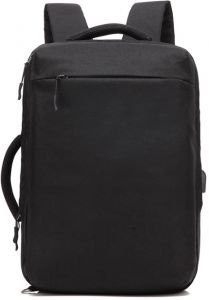 de0100aad194 Black New multifunctional creative shoulder bag male portable dual business  briefcase casual fashion USB computer backpack