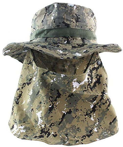 Camouflage Outdoor Sport Hiking Visor Hat UV Protection Face Neck Cover  fishing Sun Protect Cap Best Quality  b73a8ae34464