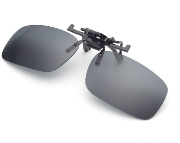 b8c0f33a416 Gray Polarized Clip-on Flip up Sunglasses Lenses Glasses Unbreakable  Driving Fishing Outdoor Sport